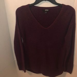 A.N.A Long Sleeve Sweater Maroon Size Small